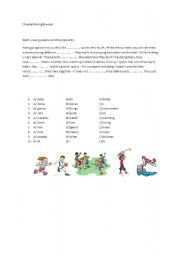 English Worksheets: choose the right word