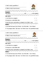 English Worksheets: Questions about a reading passage