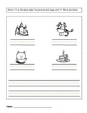 English Worksheets: write the words with letter c