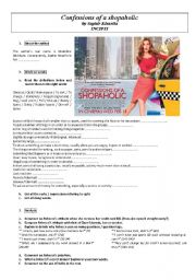 English Worksheet: Confessions of a shopaholic - incipit of the book