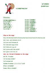 Christmas short play + song for kids