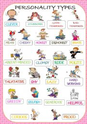 Worksheet Personality Adjectives For Children personality adjectives pictionary reuploaded with royalty free pictures