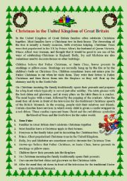 English Worksheet: Christmas in Great Britain