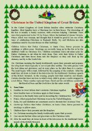 English Worksheet: Christmas in Great Britain