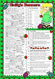 English Worksheets: EMILY�S SUMMERS (B&W INCLUDED) (2PAGES)