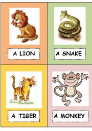 English Worksheets: Wild animal flashcards