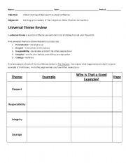 English Worksheets: Themes of