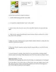 English Worksheets: Charli.e St. Cloud Film Study Worksheet