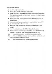 English Worksheets: Spirited Away Questions Part 2