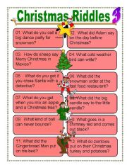 Christmas Riddles For Kids.Funny Xmas Riddles Funny Riddles