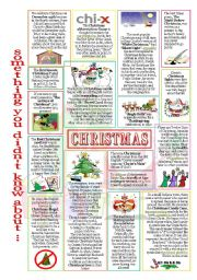 English Worksheets: something you didn�t know about Christmas