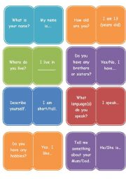 English Worksheets: Question/Answer Card What´s your name?