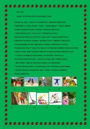 English Worksheets: Seasonal Activities PART 2