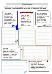 English Worksheets: Writing a message