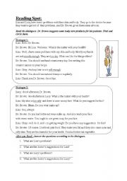 English Worksheets: Reading about body care products