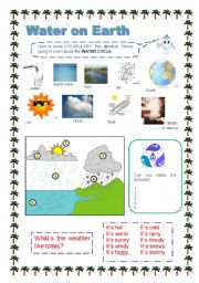 English Worksheet: Water on Earth