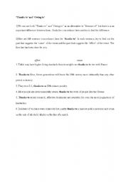 English Worksheets: thanks to/ owing to