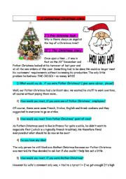 English Worksheet: A commercial Christmas story