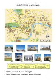 English Worksheets: Sightseeing in London 2