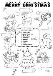 Christmas Worksheets.Christmas Worksheet Esl Worksheet By Iamirish21