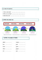 English Worksheets: 4th classes worksheet