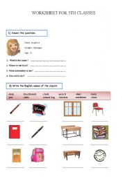 English Worksheets: worksheet for 5th classes