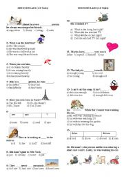 English Worksheets: 8. sinif