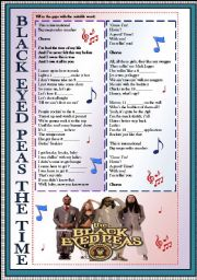 English Worksheets: black eyed peas the time