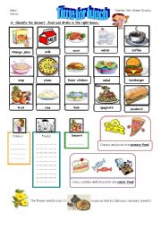 English Worksheet: TIME FOR LUNCH PART1