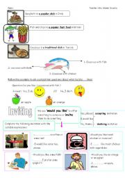 English Worksheet: PART2 TIME FOR LUNCH
