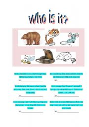 English Worksheets: Who is it?