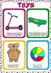 English Worksheets: Toys - flashcards (1)
