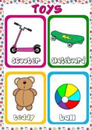 English Worksheet: Toys - flashcards (1)