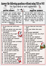English Worksheets: SPEAKING A LOT. Answer the general questions, do not use YES and NO.