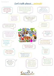 English Worksheets: Let�s Talk About...Animals