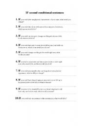 English Worksheets: If questions