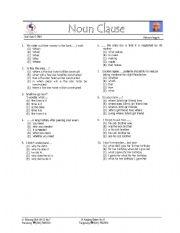 Worksheet Noun Clause Worksheet english teaching worksheets noun clauses clause