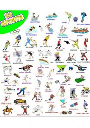 English Worksheet: 50 SPORTS - WOW