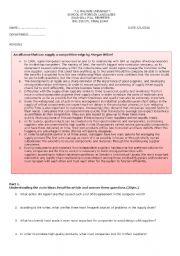 English Worksheet: Logistics Exam