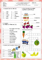 English Worksheets: 6th grade 1st term second exam