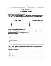 English Worksheets: Revising & Editing Sheet