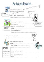 English worksheet: Active vs Passive
