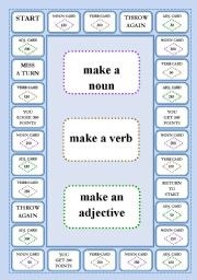English Worksheet: WORD FORMATION - A BOARD GAME