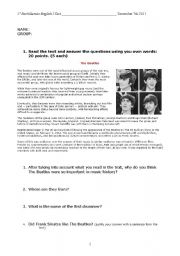 English Worksheets: EXAMEN 1º BACHILLERATO ADULTOS