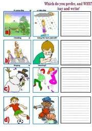English Worksheets: Which do you prefer and why?