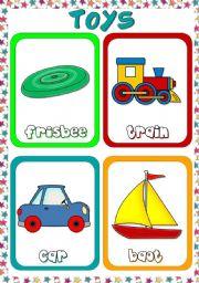 English Worksheet: Toys - flashcards (3)