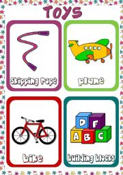 English Worksheets: Toys - flashcards (4)