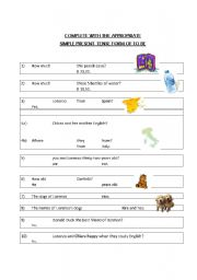 English worksheet: TO BE SIMPLE PRESENT