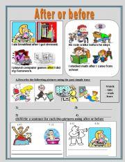 math worksheet : english teaching worksheets before and after : Before And After Worksheets For Kindergarten