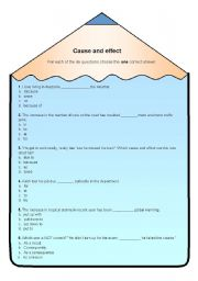 English Worksheets: Cause&Effect